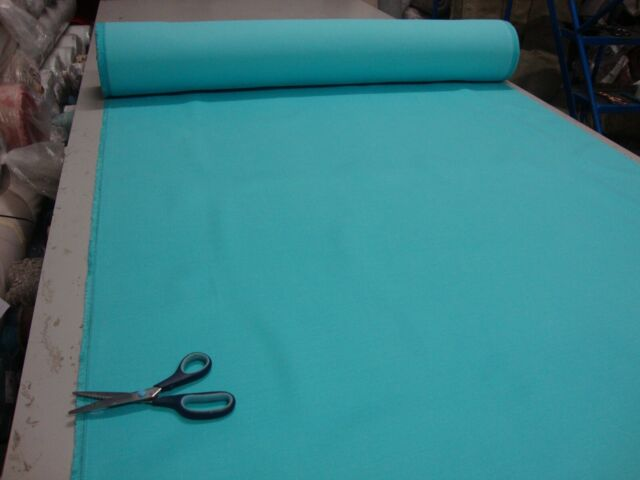 10M NANTUCKET PALE TURQUOISE DESIGNER CURTAIN UPHOLSTERY FABRIC £1.99/METER