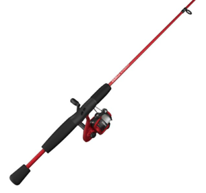 Zebco Red 5-Foot 6-in 2-Piece RodSlingshot Spinning Reel And Fishing Rod Combo