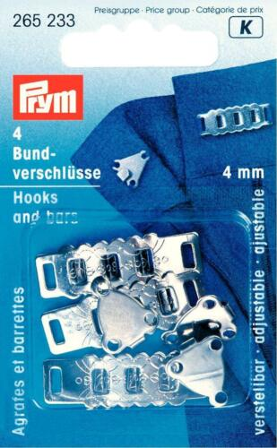 Prym federal cierres de plata 4 mm ajustable botones pantalones rock 265233