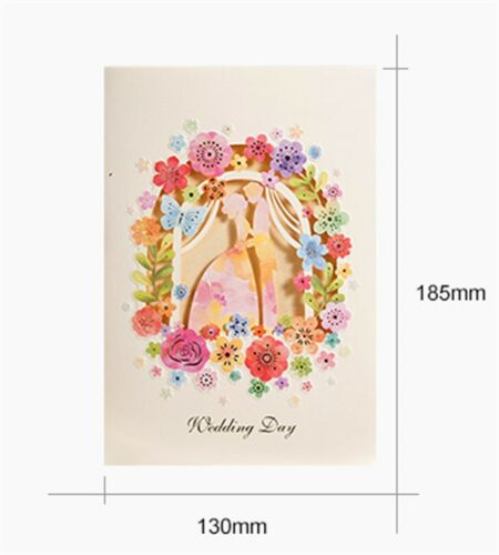 Wedding Invitation Flower Hollow Laser Cut Card With Candy Box Ribbon Envelopes