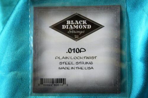 Pair of Black Diamond Plain Steel Ball End Strings .010 Gauge MPN .010P