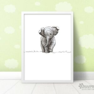Image Is Loading Elephant Nursery Art Print Safari Wall Decor