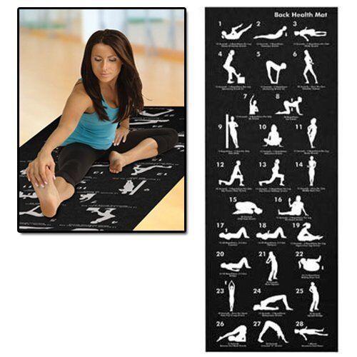 Tappetino Yoga con guida esercizi /& Borsa grande esercizio di pilates tappetino palestra di casa