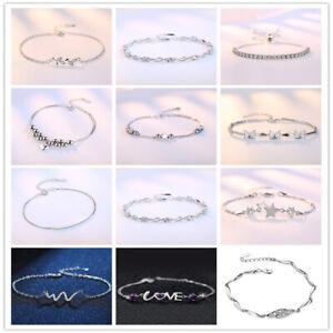 902b5d8d0 Image is loading Bracelet-Womens-Ladies-925-Sterling-Silver-Jewelry-2019-
