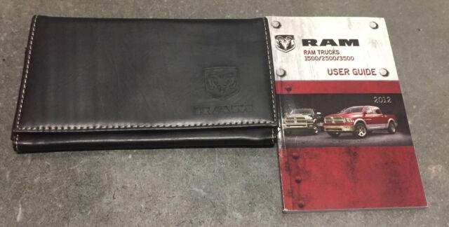 12 2012 Ram 1500 2500 3500 Owners Manual    Handbook