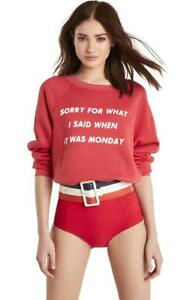 """Wildfox Couture women/'s /""""sorry what i said when it was monday/"""" sweater size s,m"""