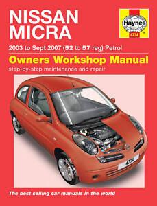 haynes officina riparazione manuale nissan micra 02 07 ebay rh ebay it manuel nissan micra k12 manuel nissan micra k12