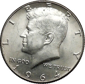 Details about 1964 President John F  Kennedy Silver Half Dollar United  States USA Coin i44616