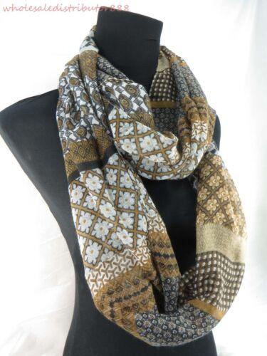 US SELLER wholesale 20 Aztec bohemian 2-loop infinity scarf womens scarves