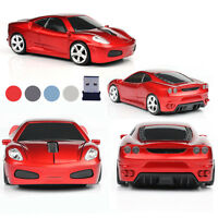 Us 2.4ghz Wireless 3d 1600dpi Car Shape Optical Usb Cordless Gaming Mouse Mice