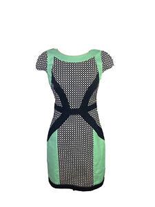 Jayson Brunsdon Black label Size 10 A - Line Midi Wiggle Dress Cap Sleeves