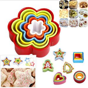 6pcs Colors Cookie Mold Fondant Biscuit Cake Maker Cutter Set DIY Baking Tool