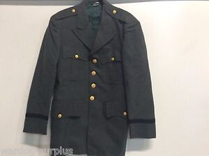 VINTAGE-US-ARMY-SERGE-44-OFFICER-JACKET-COAT-BLOUSE-SIZE-40-S-40S-100-WOOL