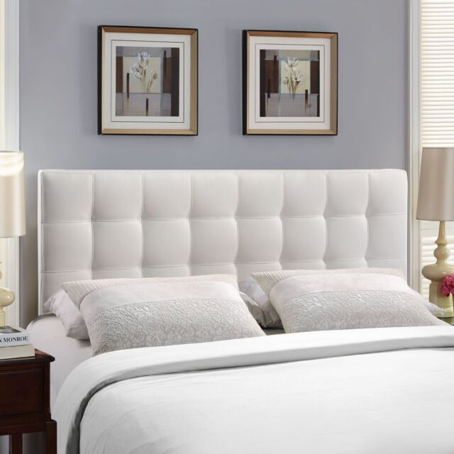 Modway Furniture Annabel Queen Vinyl Headboard Category Bedroom Color Black NEW