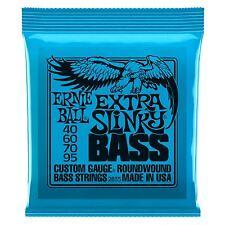 Ernie Ball Extra Slinky Nickel Wound Electric Bass Guitar Strings Gauge 40-95