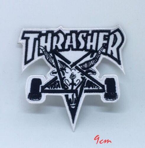Thrasher Skate Goat Pentagram Skater Iron on Embroidered Patch applique #111W