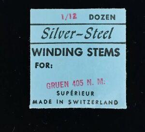 Gruen-405NM-Winding-Stem-NOS-Vintage-Watch-Parts