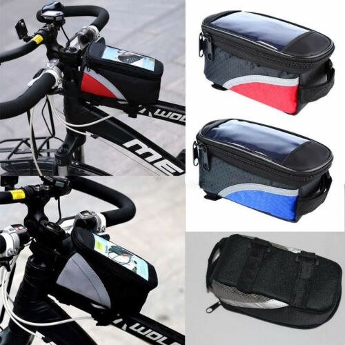 Waterproof Cycling Bike Bicycle Front Frame Pannier Tube Bag For Mobile Phone 1x