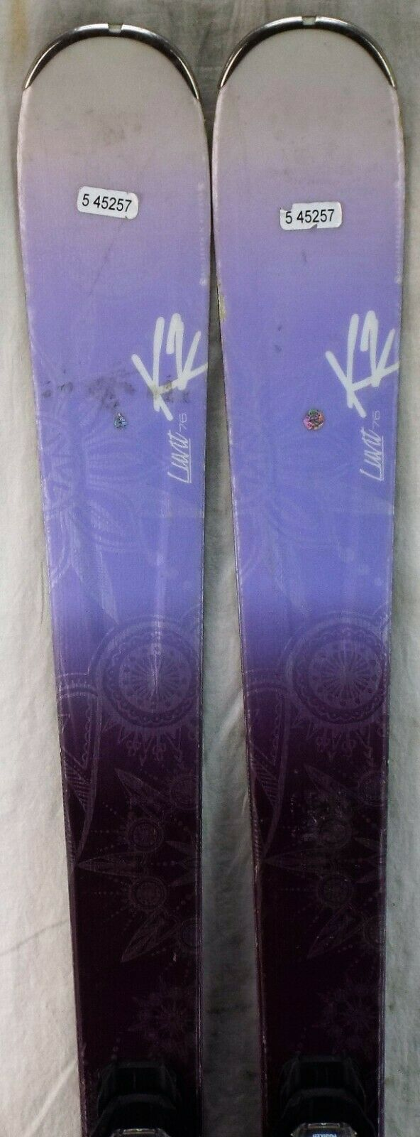 15-16 K2  LUVit 76 Used Women's Demo Skis w Bindings Size 156cm  just for you