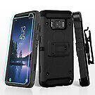 For Samsung Galaxy S8 Active Black/Black 3-in-1 Kinetic Protector Cover Holster