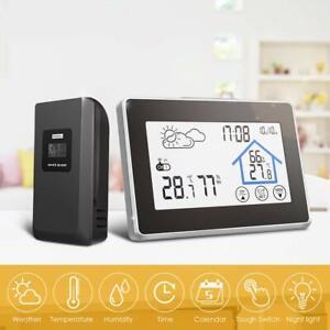 Funk Wetterstation Thermometer Barometer Touchdisplay Innen + Außen Sensor