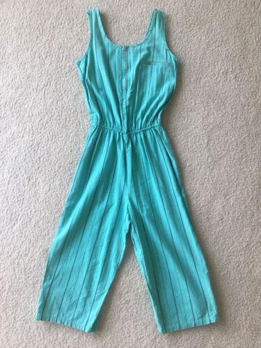 Vintage 80's Sassafras Mint Green Jumpsuit Sz Med