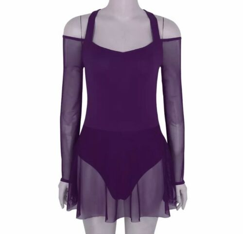 Lyrical Dance Leotard Costume.Competition,Festival.Contemporary Modern.Stage UK