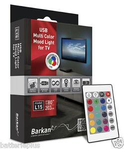 tv hintergrundbeleuchtung usb led leiste stripe multicolor moodlight l15 bis 80 ebay. Black Bedroom Furniture Sets. Home Design Ideas