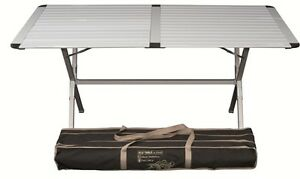 Tavolo In Alluminio Da Campeggio.Tavolo Da Campeggio In Alluminio Con Piano Arrotolabile Genius
