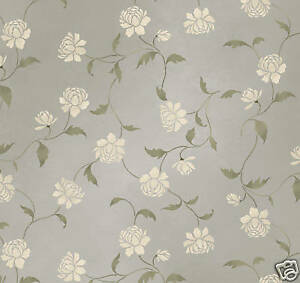 Image Is Loading Peony Allover Wall Stencil Floral Pattern