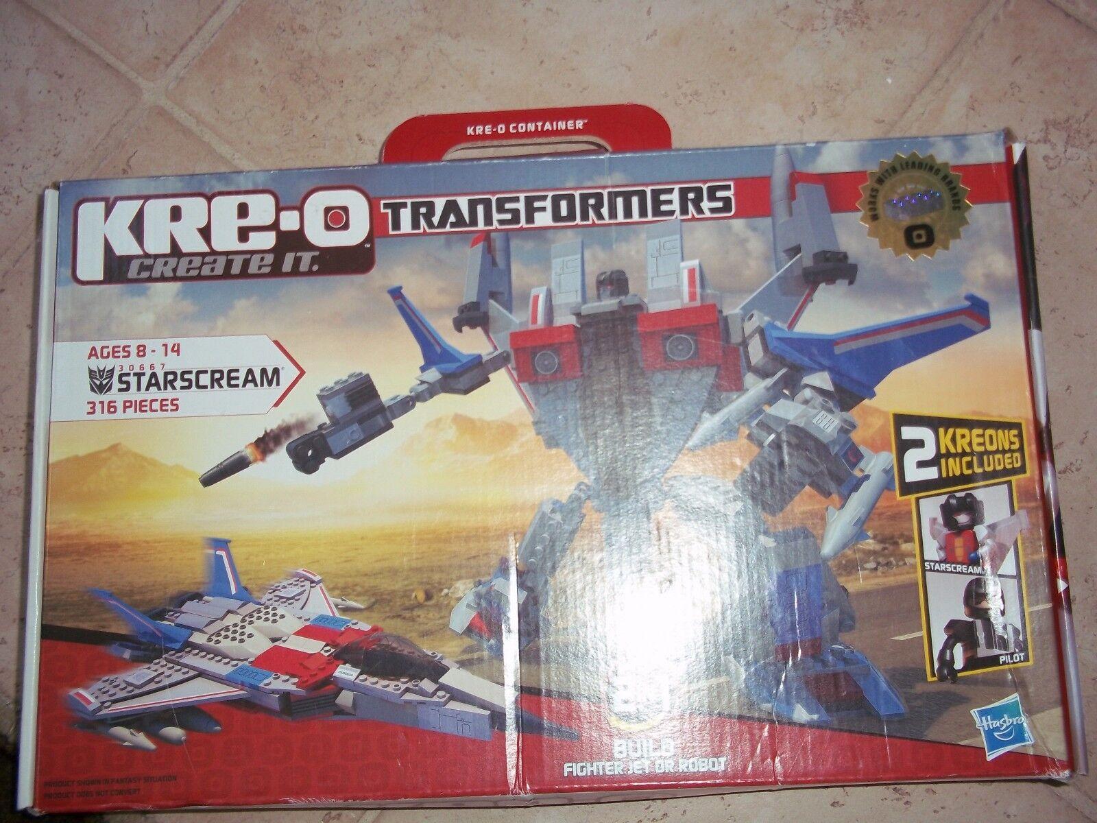 New Hasbro KRE-O Transformers Starscream Building Set 30667 w/2 Kreons + Pilot