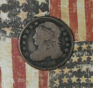 1834 Capped Bust Silver Dime Collector Coin For Collection. ***FREE SHIPPING***