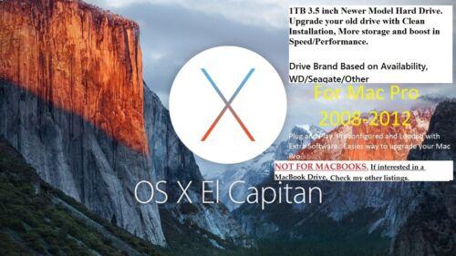 1TB Preloaded with El Capitan 10.11 Hard Drive for Mac Pro 2008,2009,2010,2012