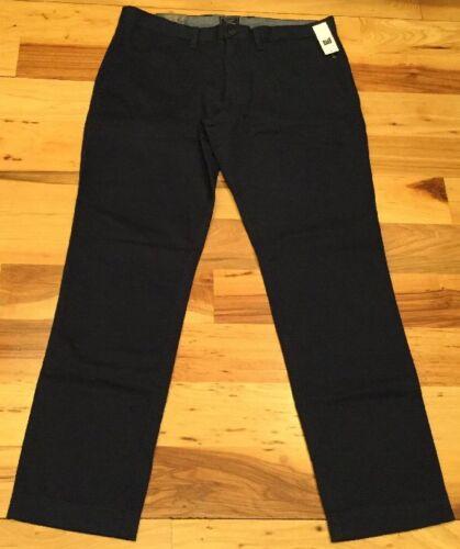 30 Men's Blue Gap Navy Khakis Slim 38 Stretch Nwt Pants X Otqd4w4
