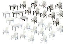Faller 180439 HO 1/87 24 Chaises et 6 Tables de jardin