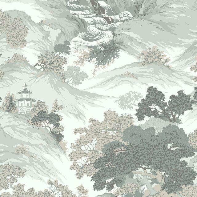 Archives Oriental Paysage Papier Peint Eau de Nil - Couronne M1191 Chine Neuf