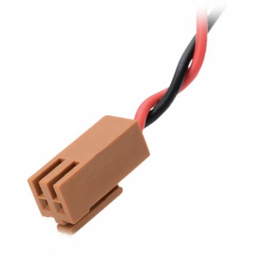 2pcs TOSHIBA ER6V//3.6V 2400mAh PLC Battery for Mitsubishi M64 System with Plug