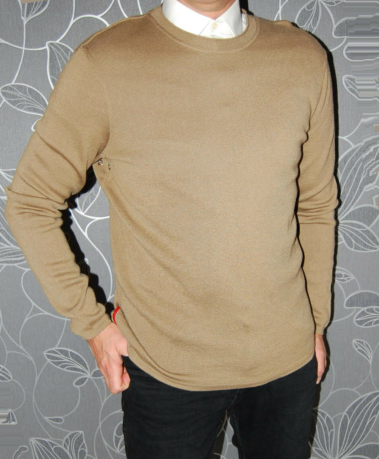 PRADA  Herren 100% WOOL SWEATER Größe IT54