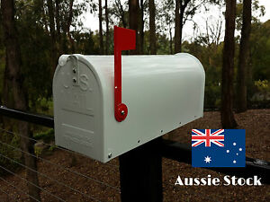 US style LETTERBOX MAIL BOX AMERICAN MAILBOX INDICATOR WHITE NEW