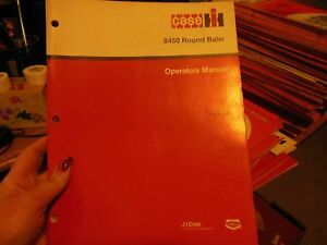 Details about CASE 8450 Round Baler Operators Manual, Rac9-13420