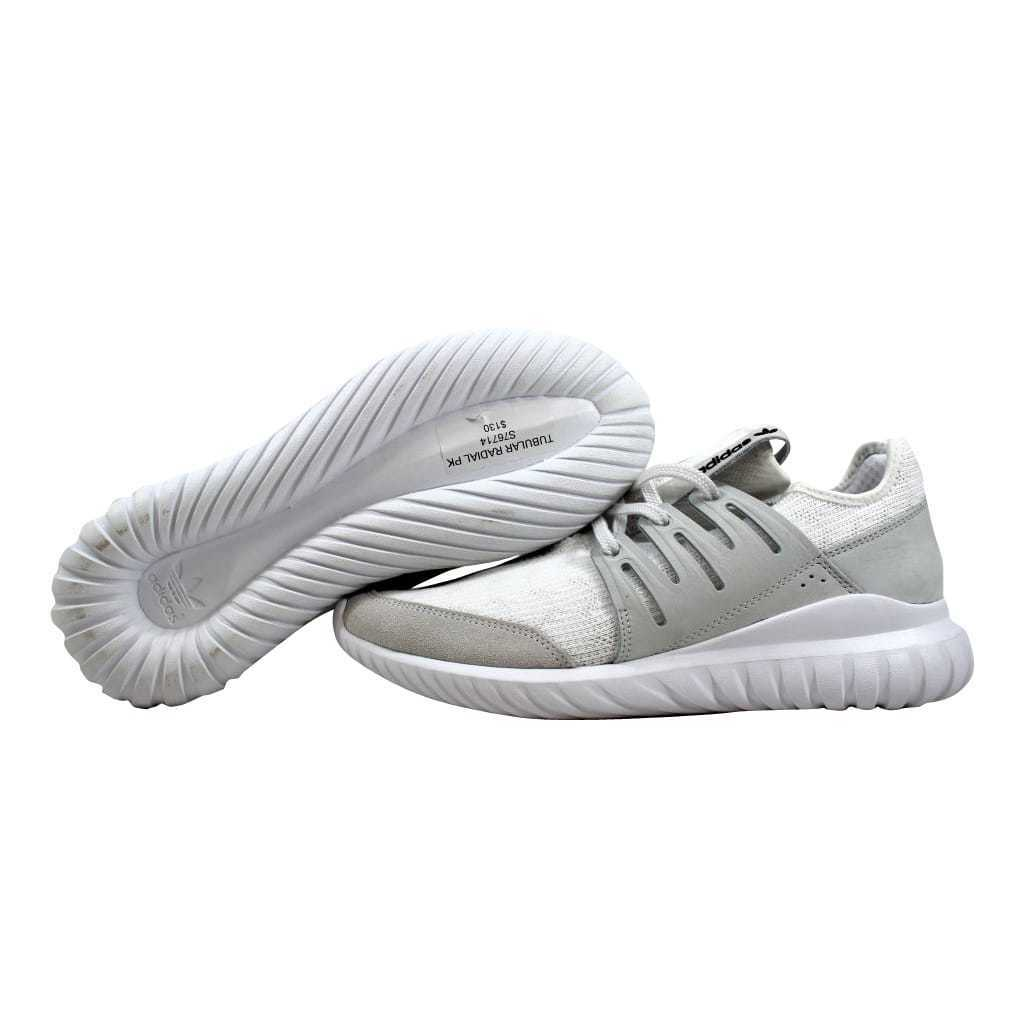 053f9bd3754 adidas Tubular Radial PK Mens S76714 White Primeknit Running Shoes Size 8  for sale online