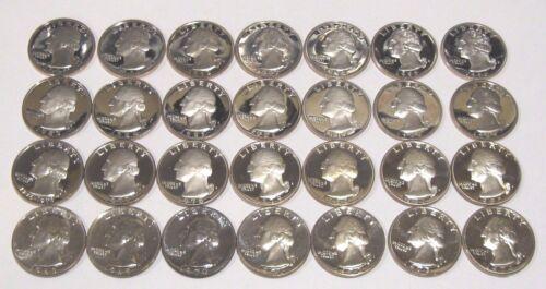 1965-1998 S Complete Set 33 Coins Washington Quarter Gem Proof
