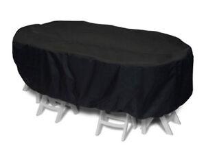 Housse pour salon de jardin 10 places confort 350cm noir | eBay