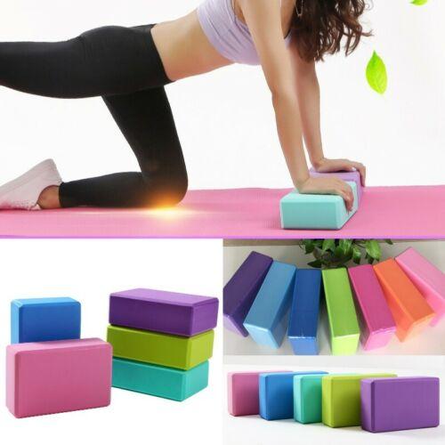 2 x Yoga Block Stretching Foam Fitness Up Brick Pilates EVA Foaming Gym Exercise