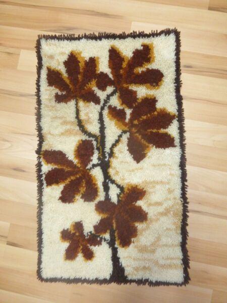 Geknüpfter Gestickter Wandbehang Wandteppich Blätter Handarbeit Neu