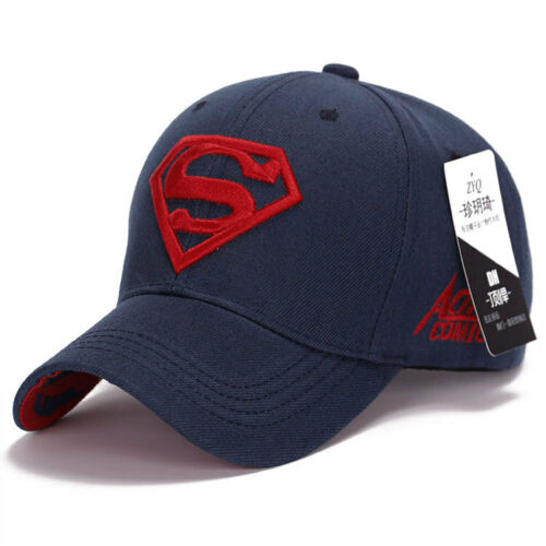 Mens/' Superman Logo Embroidery Baseball Cap Sports Summer Gym Adjustable Hat UK