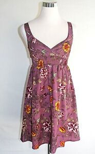 67593fcdc218 H M Women s Size 4 Purple Floral Sleeveless V-Neck Party Summer ...