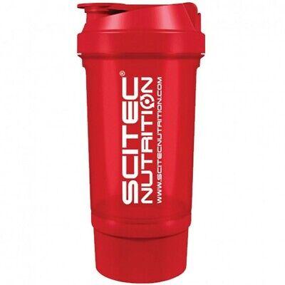 Scitec Nutrition Red Protein Shaker Bottle 500ml + Storage Compartment | eBay