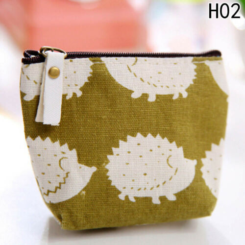 Lady Small Canvas Purse Mini Zip Wallet Coin Case Bag Handbag Pouch Wallet Great