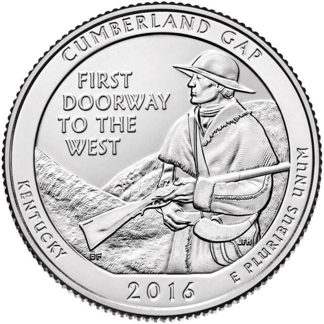 Mints 16abd 2016 PD Cumberland Gap National Historical Park QUARTER SET P D U.S